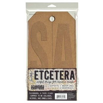 Tim Holtz Etcetera MEDIUM TAG Thickboards THETC-002