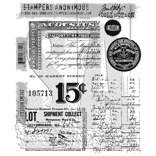 Tim Holtz Cling Rubber Stamps ETCETERA CMS302 Preview Image
