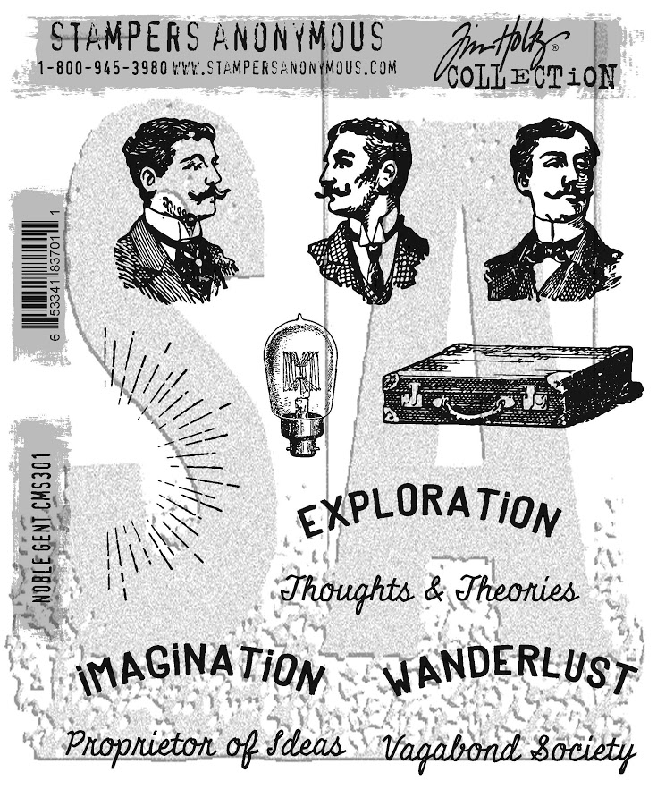 Tim Holtz Cling Rubber Stamps 2017 NOBLE GENT CMS301 zoom image