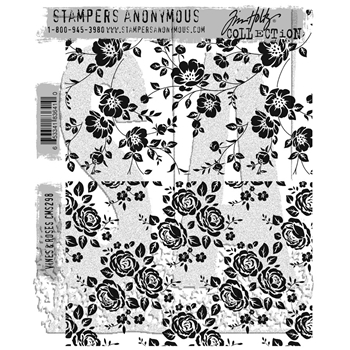 Tim Holtz Cling Rubber Stamps 2017 VINES AND ROSES CMS298