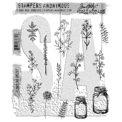 Tim Holtz Cling Rubber Stamps 2017 FLOWER JAR CMS297 Preview Image