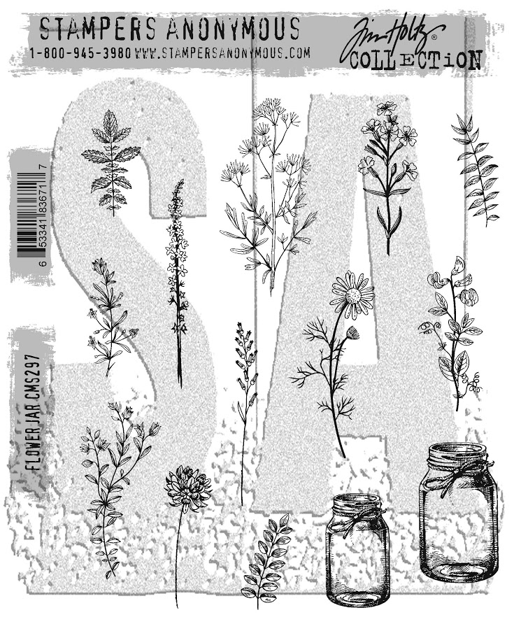 Tim Holtz Cling Rubber Stamps 2017 FLOWER JAR CMS297 zoom image