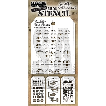 Tim Holtz MINI STENCIL SET 29 MST029