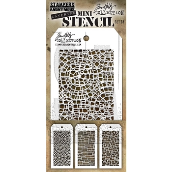 Tim Holtz MINI STENCIL SET 28 MST028