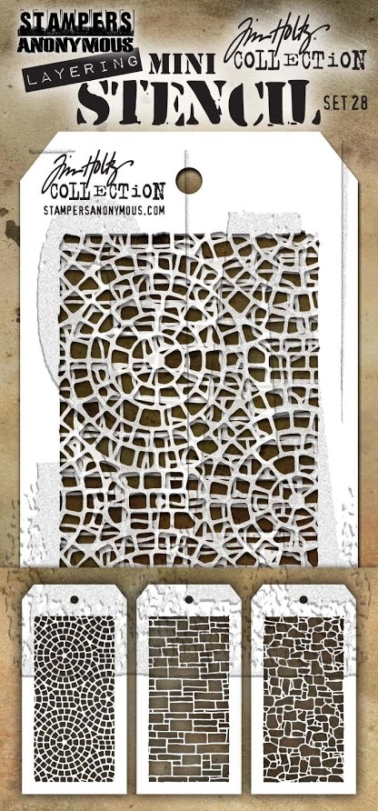 Tim Holtz MINI STENCIL SET 28 MST028 zoom image