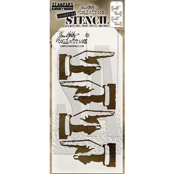 Tim Holtz Layering Stencil DIRECTION THS088
