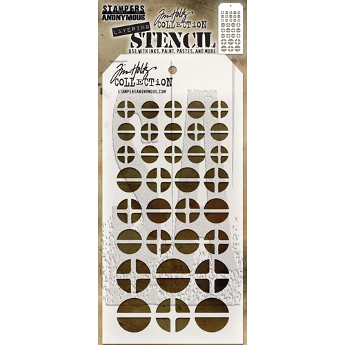 Tim Holtz Layering Stencil SCREWED THS087 Preview Image