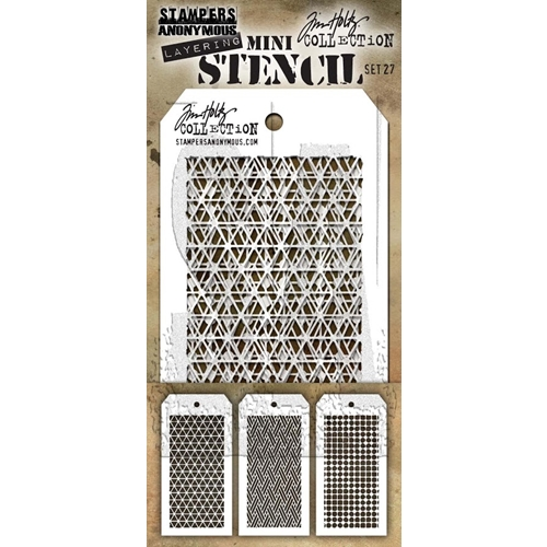 Tim Holtz MINI STENCIL SET 27 MST027 Preview Image
