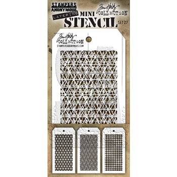 Tim Holtz MINI STENCIL SET 27 MST027