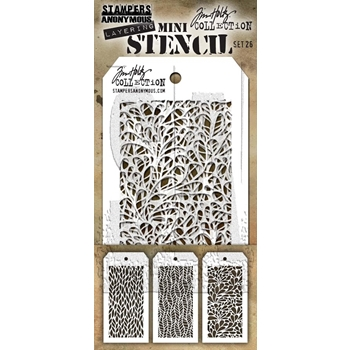 RESERVE Tim Holtz MINI STENCIL SET 26 MST026