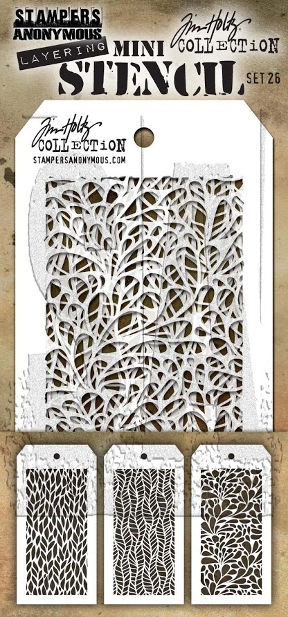 Tim Holtz MINI STENCIL SET 26 MST026 zoom image