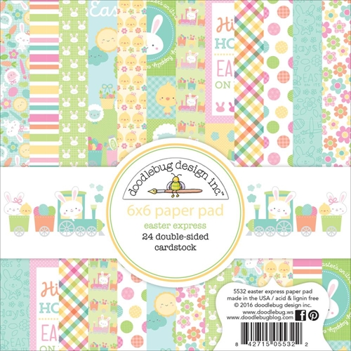 Doodlebug EASTER EXPRESS 6x6 Paper Pad 5532 Preview Image