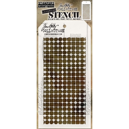 Tim Holtz Layering Stencil GRID DOT THS083 Preview Image