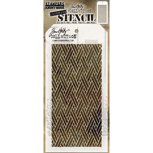 Tim Holtz Layering Stencil WOVEN THS082 Preview Image