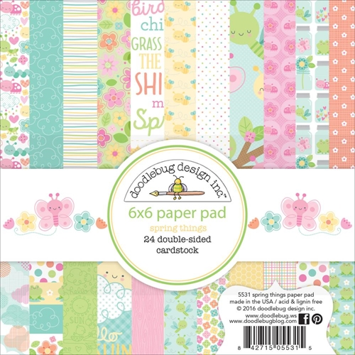 Doodlebug SPRING THINGS 6x6 Paper Pad 5531 Preview Image