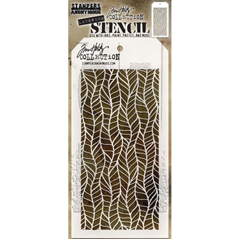 Tim Holtz Layering Stencil FEATHER THS079