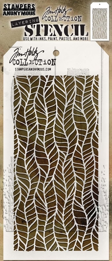 Tim Holtz Layering Stencil FEATHER THS079 zoom image