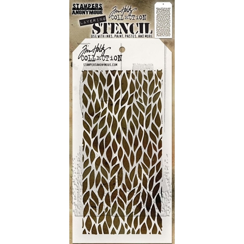Tim Holtz Layering Stencil LEAFY THS078 Preview Image