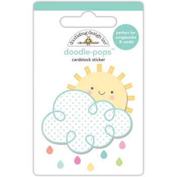 Doodlebug HELLO SUNSHINE Doodle Pops 3D Stickers Spring Things 5473