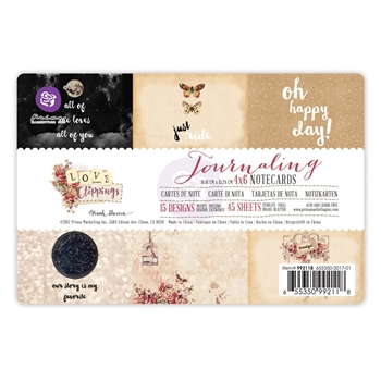 Prima Marketing LOVE CLIPPINGS 4 X 6 Journaling Notecards 992118