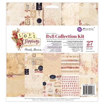 Prima Marketing LOVE CLIPPINGS 8 x 8 Collection Kit 992088