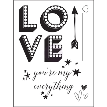 Prima Marketing LOVE CLIPPINGS Clear Stamp 992132