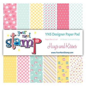 Your Next Stamp HUGS AND KISSES 6X6 Paper Pack YNSPP007