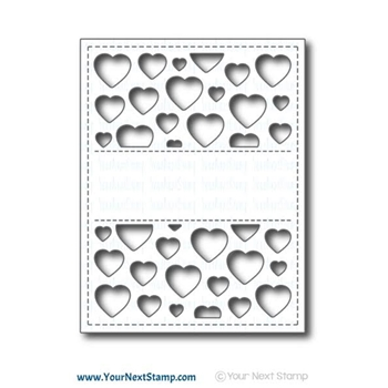 Your Next Stamp HEART PANEL Die Set YNSD558