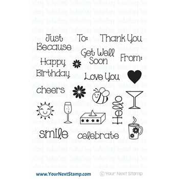 Your Next Stamp SWEET LITTLE GREETINGS Stamp Set CYNS519