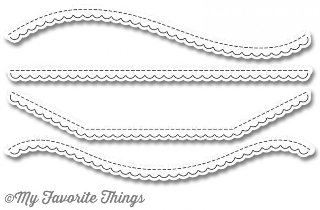 My Favorite Things STITCHED SCALLOP BASIC EDGES 2 Die-Namics MFT1015 zoom image