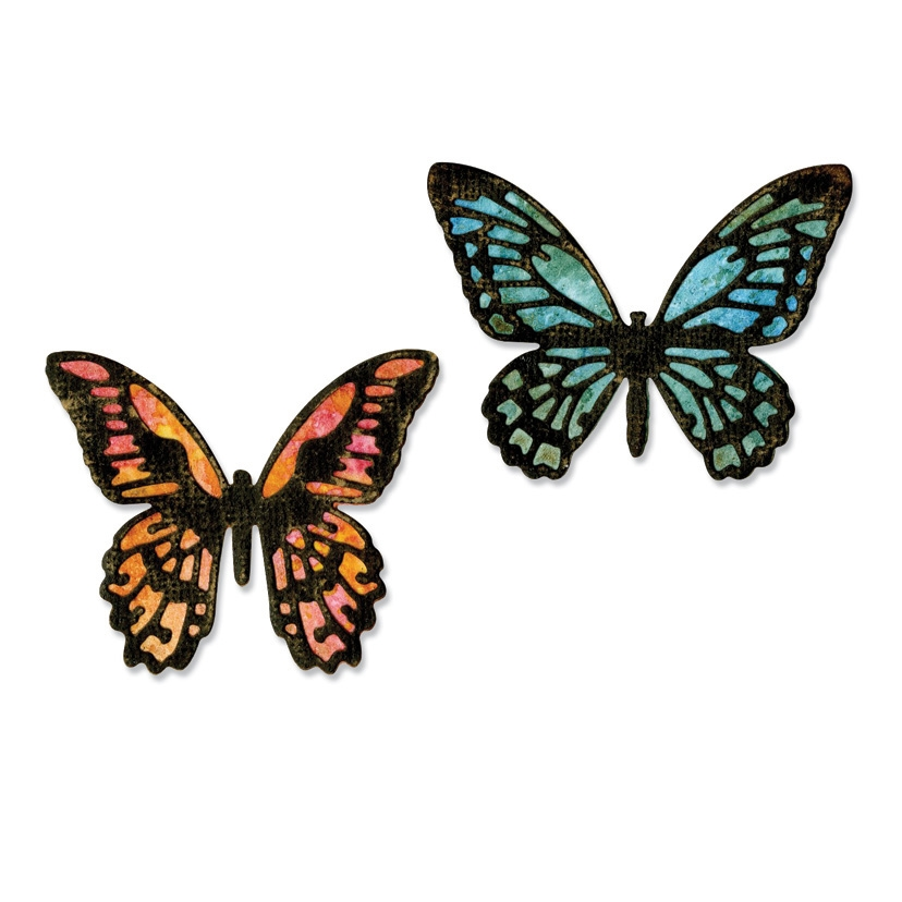 Tim Holtz Sizzix MINI DETAILED BUTTERFLIES Thinlits Die 661802 zoom image
