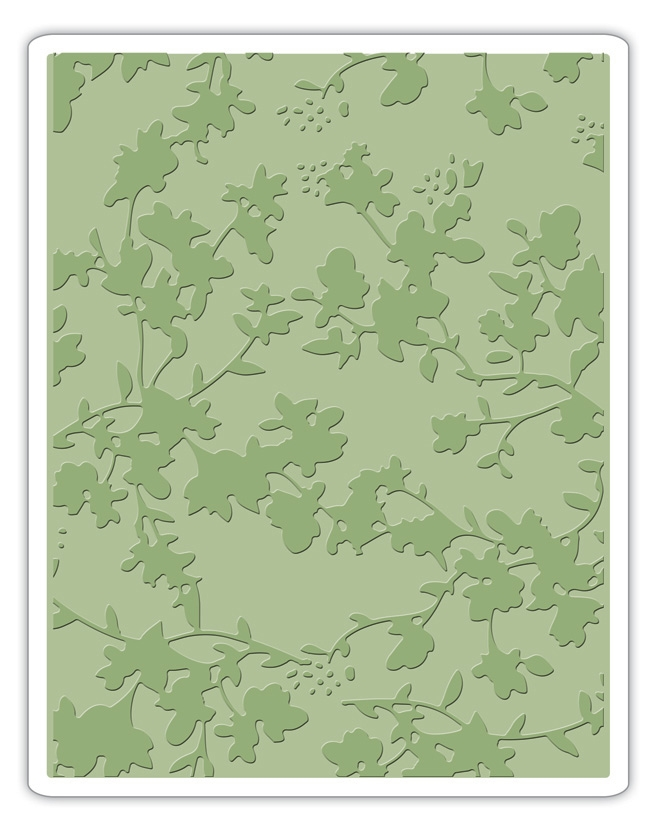 Tim Holtz Sizzix FLORAL Texture Fades Embossing Folder 661821 zoom image