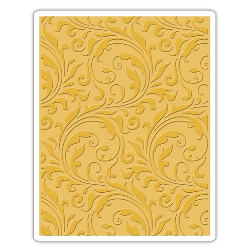 Tim Holtz Sizzix FLOURISH Texture Fades Embossing Folder 661822 Preview Image