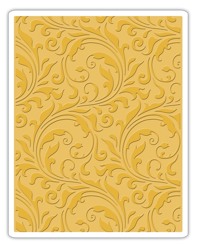 Tim Holtz Sizzix FLOURISH Texture Fades Embossing Folder 661822 zoom image