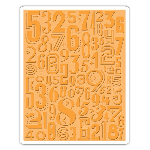 Tim Holtz Sizzix NUMERIC Texture Fades Embossing Folder 661827 Preview Image