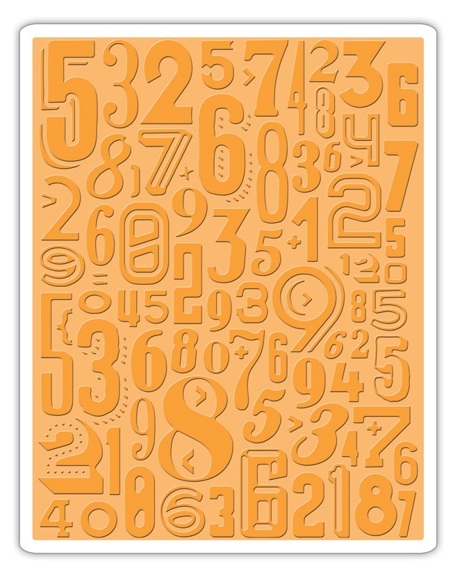 Tim Holtz Sizzix NUMERIC Texture Fades Embossing Folder 661827 zoom image