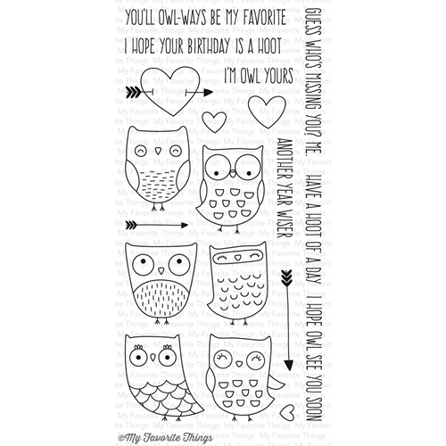 My Favorite Things I'm Owl Yours Clear Stamp Set