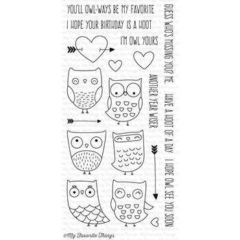 My Favorite Things I'M OWL YOURS Clear Stamps CS168