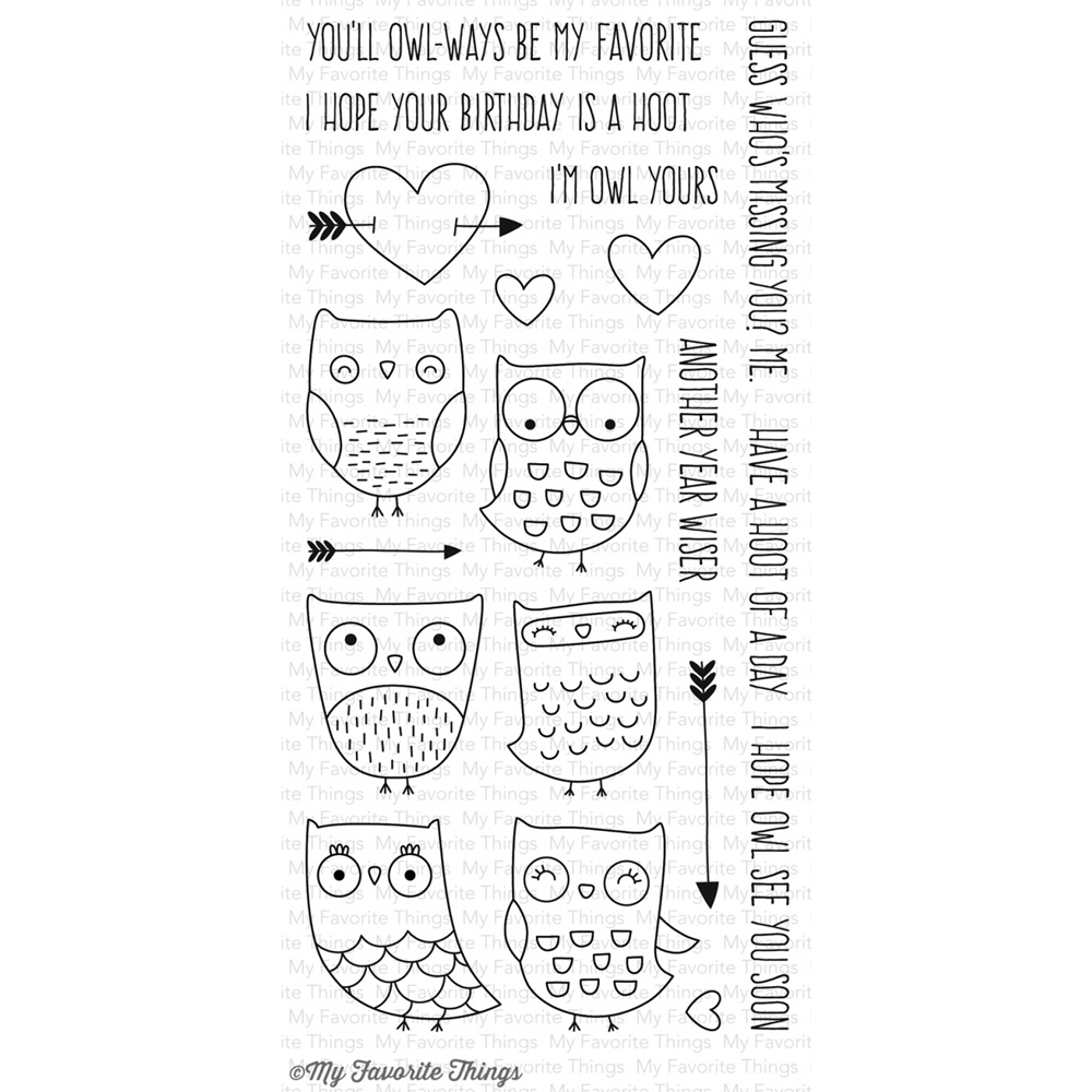 My Favorite Things I'M OWL YOURS Clear Stamps CS168 zoom image
