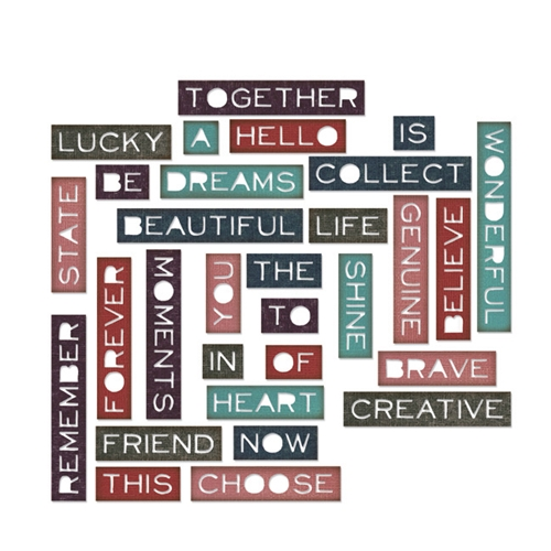 Tim Holtz Sizzix PONDERING WORDS Thinlits Die 661801 Preview Image