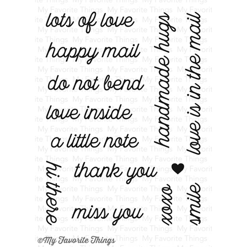 My Favorite Things LOVE IS IN THE MAIL Clear Stamps