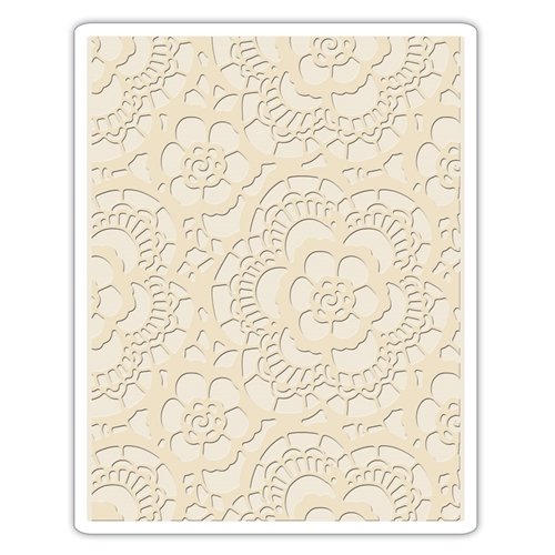 Tim Holtz Sizzix LACE Texture Fades Embossing Folder 661824 Preview Image