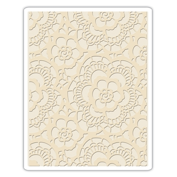 RESERVE Tim Holtz Sizzix LACE Texture Fades Embossing Folder 661824