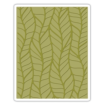 RESERVE Tim Holtz Sizzix LEAFY Texture Fades Embossing Folder 661826