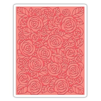 RESERVE Tim Holtz Sizzix ROSES Texture Fades Embossing Folder 661829