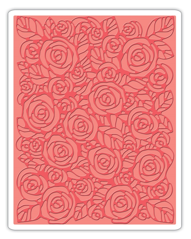 Tim Holtz Sizzix ROSES Texture Fades Embossing Folder 661829 zoom image