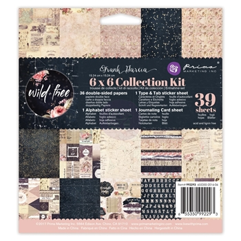 Prima Marketing WILD AND FREE 6 x 6 Collection Kit 992293