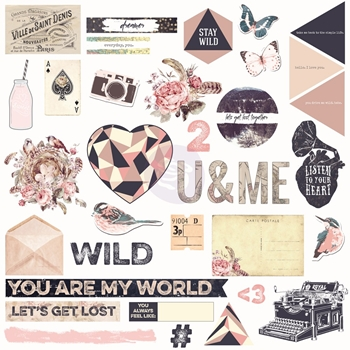 Prima Marketing WILD AND FREE Chipboard And More 992347