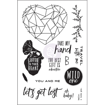 Prima Marketing WILD AND FREE Cling Stamp Set 992330