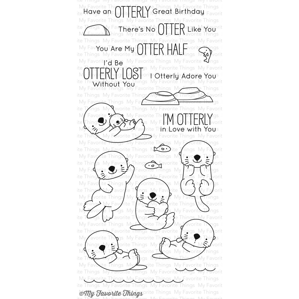 My Favorite Things OTTERLY LOVE YOU Clear Stamps BB42 zoom image